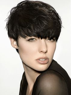 short black straight choppy coloured hairstyles for women