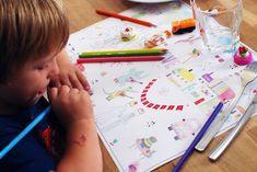 Télécharger des sets de table à colorier pour les enfants pour les distraire lors d'un repas de mariage