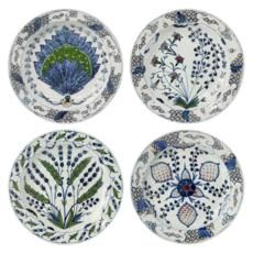 Isphahan Porcelain DInner Plates, Set of 4 - OKA Direct