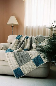 Crochet-COUNTRY pattern for crocheted blanket $5.00
