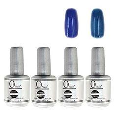QINF 4PCS CH Silver Bottle Soak-off UV Gel Set Top Coat Base Gel 2 UV Color Builder Gel(No.83-84,15ml) ** Read more at the image link. (This is an affiliate link)
