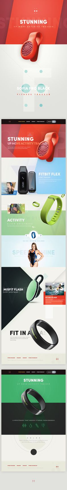 Fitness Tracker - Stunning Ui design concept and visual identity by Cüneyt ŞEN.