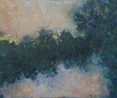 Evening Light by Mary Mendla Oil and mixed media ~ 8 x 10