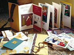 materials an accordian-style photo album - great way to save xmas cards