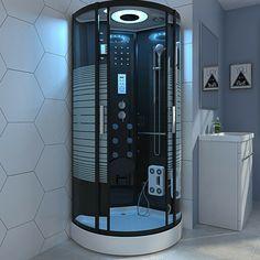 800*800mm Quadrant Steam / No Steam Shower Cubicle Enclosure Shower Cabin Black · $569.00 Steam Shower Cabin, Shower Cabinets, Quadrant Shower, Shower Cubicles, Kabine, Steam Showers, Glass Door, Plush, Indoor
