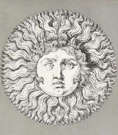 Design is fine. History is mine.      — Piero Fornasetti, The Sun King, design used for a...