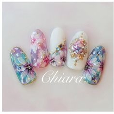 Heat Up Your Life with Some Stunning Summer Nail Art Cute Nail Art, Gel Nail Art, Beautiful Nail Art, Cute Nails, Fancy Nails Designs, Flower Nail Designs, Nail Art Designs, Dimond Nails, Vintage Nail Art