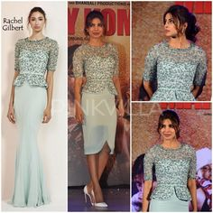 Priyanka Chopra in Rachel Gilbert paired with white Louboutins.