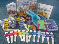 Flame: Creative Children's Ministry: Joseph story bag. The website explains the contents in this great teaching tool.