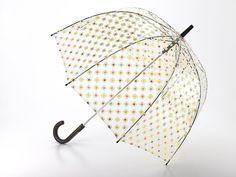 Parapluie Orla Kelly - Parapluie transparent cloche Birdcage Orla Kiely de Fulton. Orla Kiely, la célèbre designeuse anglaise a fait une version déclinant le motif