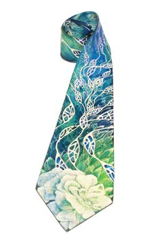 Tie • 100% silk   hand-painted   decorated with Swarovski crystals   2014 • Ties   Mens Fashion   Modern Fashion   Fashion Ideas • Only one available on Etsy •