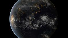 Typhoon Haiyan,  November 7th at 8am Eastern Standard Time by the Japan Meteorological Agency and EUMETSAT