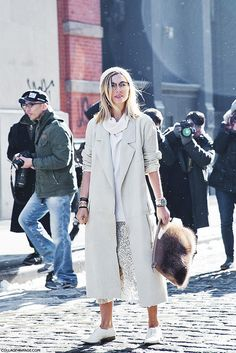 New_York_Fashion_Week-Street_Style-Fall_Winter-2015-Stripes_Fur_Coat-White_Boots-Nasiba_Adilova-Sequins_Skirt-White_Oxfors-Trench-Beanie-1 b ...