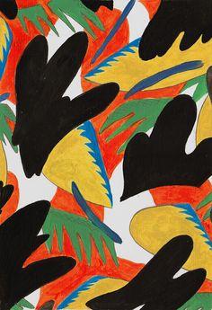 Parlour Ape Pattern No. 3, acrylic on paper, 11.3 x 15.7cm, 2013 March 10, 2014