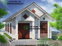 Nhà thái cấp 4, nhà ống cấp 4 giá rẻ tại Ba Vì NDNC426 Kerala Houses, Small House Design, My House, Beautiful Homes, House Plans, Home And Garden, Exterior, Outdoor Structures, Shed