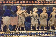 The Standard of Ur is actually a hollow box decorated with mosaics of lapus lazuli red limestone and shell set in bitumen Sumerian 26th century BCE by mharrsch, via Flickr