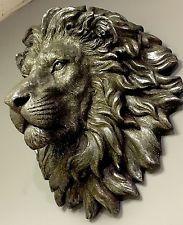 Lion sculpture and Sculpture Head, Sculptures Céramiques, Lion Sculpture, Lion Art, Animal Heads, Wood Carving, Pet Portraits, Cat Art, Amazing Art