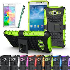 Buy Wallmart.win Ship From US, Armor Heavy Duty Case Protective Skin+Flim For Samsung Galaxy Grand Prime G530 G530H G530M G530FZ G5308 W…