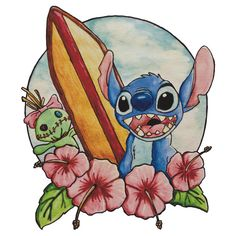 Surfing Stitch and Scrump