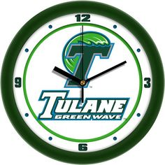 Tulane University Green Wave - Traditional Wall Clock