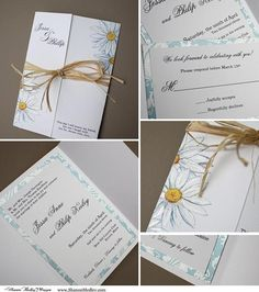 sophisticated dainty daisies wedding invitation by shanon medley - Daisy Wedding Invitations