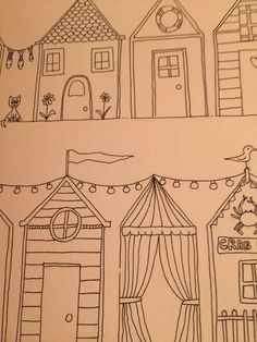 My beach ink drawing for colouring in