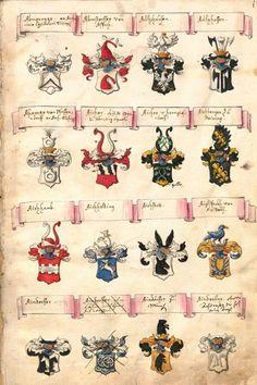 «Wappenbuch des bayrischen Adels», by Johann Franz, [S.l.], 1693 [BSB-Hss Cgm 2270 -  urn:nbn:de:bvb:12-bsb00059268-7] -- Bildnr.1: Abmperger, Abmstorffer...