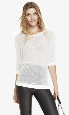 Take a look at what I just bought from Express. OPEN STITCH DOLMAN SWEATER | Express