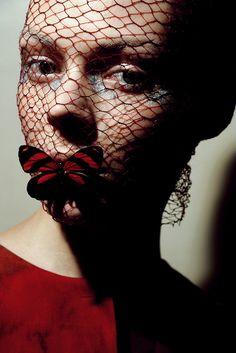 Kinga Rajzak at Giambattista Valli Haute Couture Autumn/Winter 2012.