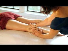 HD Leg, Thigh  Foot Massage Therapy, How To Techniques with Oil, Relaxing Spa ASMR - YouTube