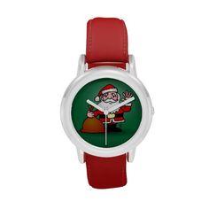 Santa Claus Wrist Watch #Zazzle #Cardvibes #Tekenaartje #Christmas
