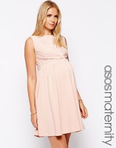 c29f74ebc7133 ASOS Maternity Exclusive Skater Dress With Pleat Detail Bodice at asos.com
