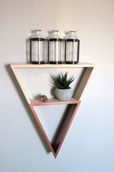 Urban Outfitters inspired Triangle Shelf