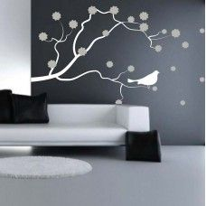Branch With Flowers Wall Sticker Decorative Wall Art