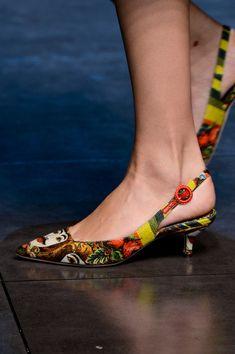 91f88a913f66 Dolce   Gabbana Spring 2013 - Details Kitten Heel Shoes
