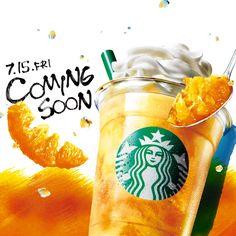 先行告知 Food Poster Design, Food Design, Flyer Design, Starbucks Drinks, Starbucks Coffee, Smoothie Menu, Smoothies, Starbucks Specials, Ice Cream Poster
