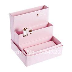 DIY Paper Board Storage Box Desk Decor Organizer Stationery MakeUp Cosmetic(China (Mainland))
