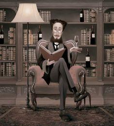 Iban Barrenetxea personaliza las portadas de las revistas que la bodega Solar de Samaniego envía mensualmente a sus cofrades -suscriptores- con las novedades de sus literarios vinos.