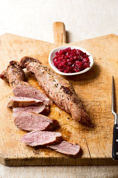 A pork tenderloin that's perfect for fall, with a sweet-tart plum chutney to take it to the next level.