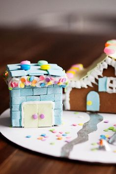 Gingerbread Houses Made With Gum Siding And Accents Such A Fun Idea It Looks
