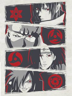 THE FOUR SHARINGAN!