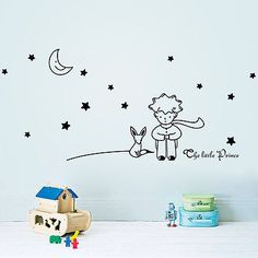 Stars Moon The Little Prince Boy Art Vinyl Wall Sticker Home decor Wall Decals 2 orders *** More info could be found at the image url. #HomeDecor