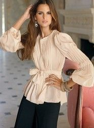 pleated front vintage-inspired blouse - Google Search