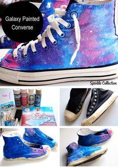 Galaxy Painted Converse www. diy Galaxy Painted Converse www. Galaxy Converse, Converse Sneakers, Diy Converse, Galaxy Shoes, Converse Chuck, Converse Design, Converse Style, Galaxy Crafts, Diy Galaxy