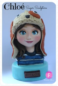 Chloé ~ Character Sugar Sculpture & Cocoa Butter Tutorial