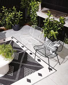 Outdoor patio styling