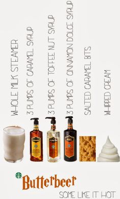 Butterbeer, Harry Potter, Starbucks, Secret Menu, Hot Holiday Drinks,