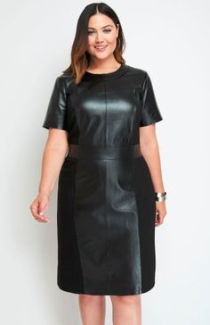 Modest Black Dress, Edgy Dress, Black Dress Outfits, Plus Size Short Dresses, Plus Size Outfits, Plus Size Inspiration, Ladies Of London, London Women, Full Figured Women