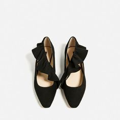 ZARA - WOMAN - FRILL DETAIL BALLERINAS