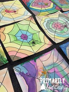 tiger art projects for kids - Spider Web Art Tutorial Spider Web Craft, Spider Art, Spider Crafts, Spider Webs, Charlottes Web Activities, Charlotte's Web Book, Halloween Art Projects, Halloween Decorations, Web Activity